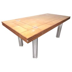 Directional Custom Collection Vintage Modern Inlaid Dining Table