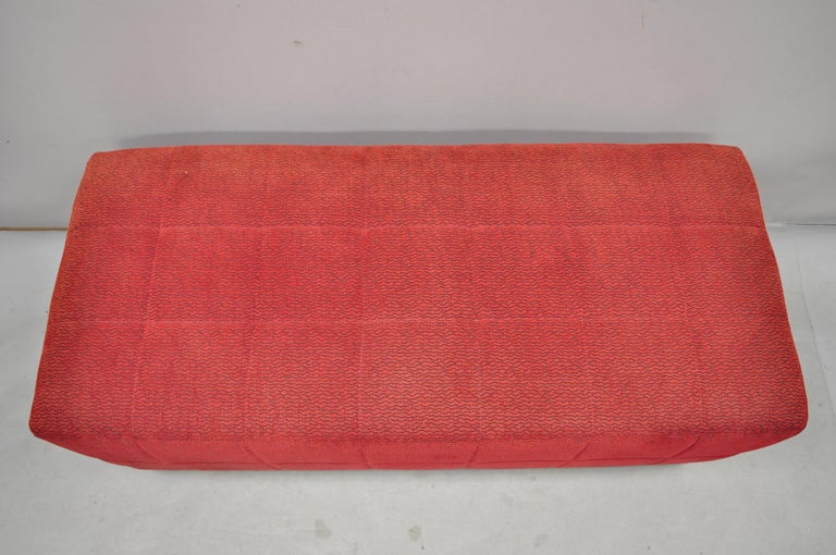 Directional Red Upholstered Large Modern Charles Bench Seat Ottoman For Sale 5