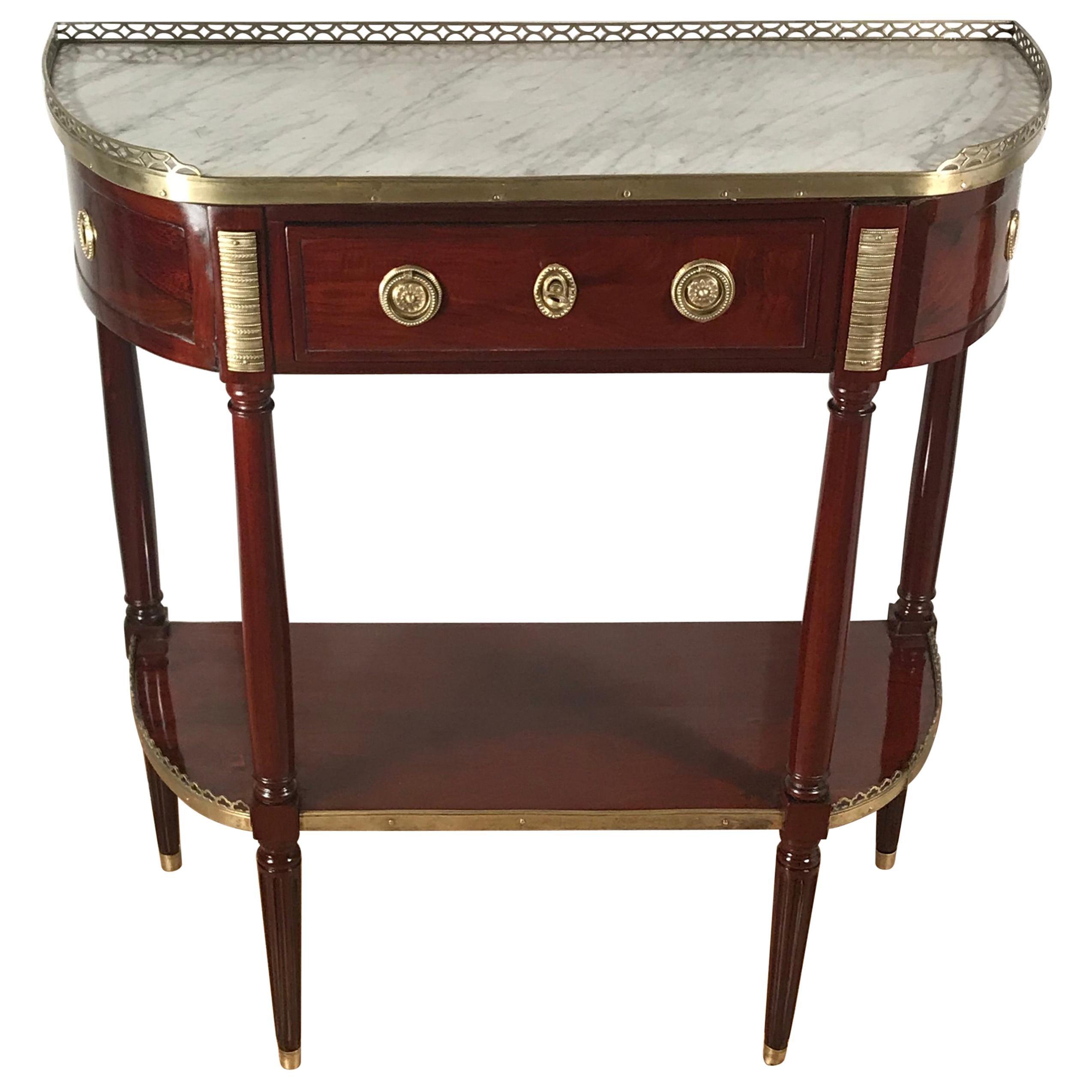 Directoire Console Table, France, circa 1800, Mahogany