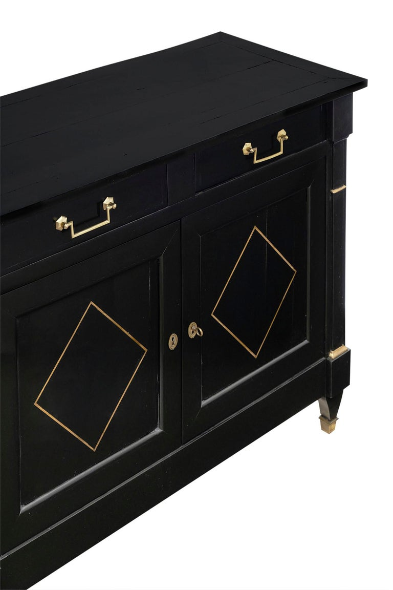 Late 19th Century Directoire French Ebonized Buffet For Sale