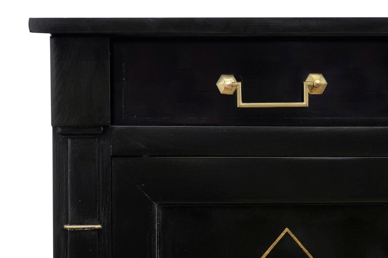 Bronze Directoire French Ebonized Buffet For Sale