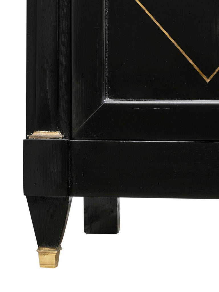 Directoire French Ebonized Buffet For Sale 1