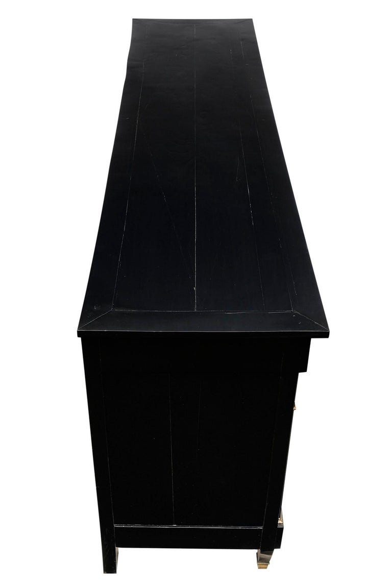 Directoire French Ebonized Buffet For Sale 4