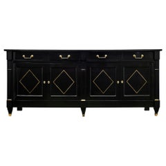 Directoire French Ebonized Buffet