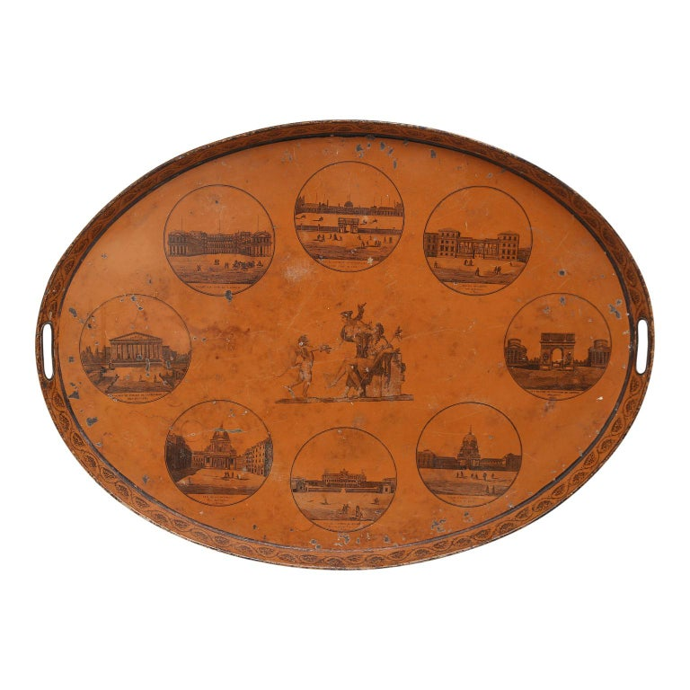 Directoire French Tôle Tray For Sale