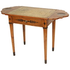 Directoire Fruit Wood Leather Top Writing Table
