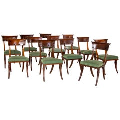 Directoire Klismos Chairs, France, 19h Century