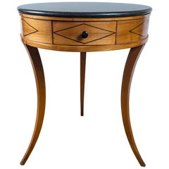 Directoire Marble Top Round Side Table