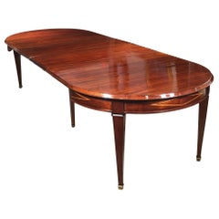 Directoire St. Dining-Room Table with Its Original Four Extensions