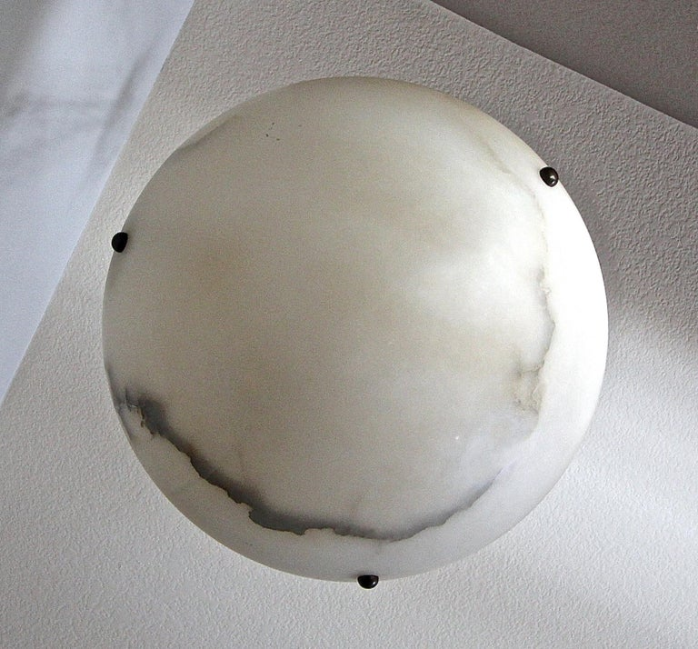 Directoire Style French Alabaster Chandelier Pendant Light For Sale 3