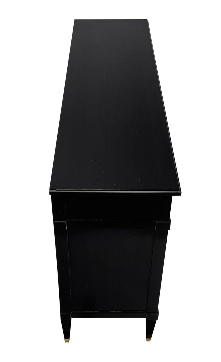 Directoire Style French Antique Ebonized Buffet For Sale 5