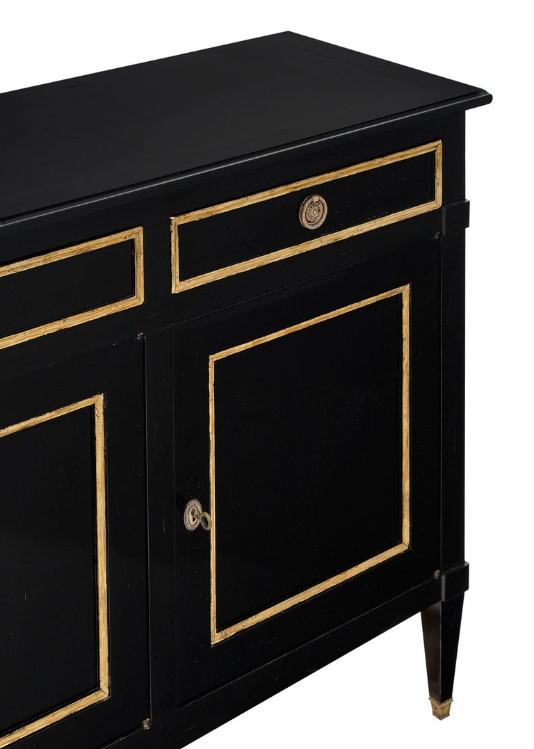 Early 20th Century Directoire Style French Antique Ebonized Buffet For Sale