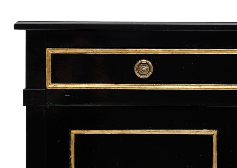 Bronze Directoire Style French Antique Ebonized Buffet For Sale