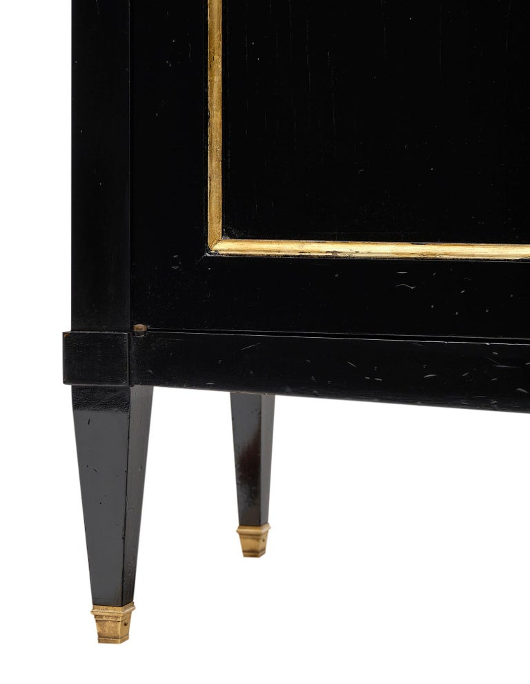 Directoire Style French Antique Ebonized Buffet For Sale 1