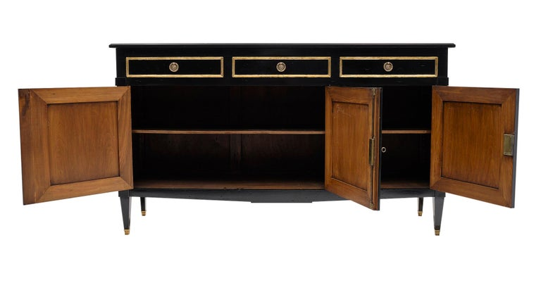 Directoire Style French Antique Ebonized Buffet For Sale 2