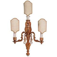 Directoire Style Gilt Bronze Sconce by Gherardo degli Albizzi
