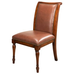 Directoire Style Leather Dining Chair