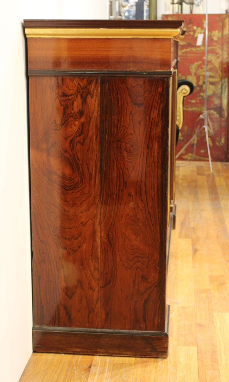 Directoire Style Mahogany Sideboard In Good Condition For Sale In New York, NY