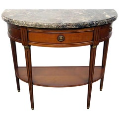 Directoire Style Marble-Top Console Table