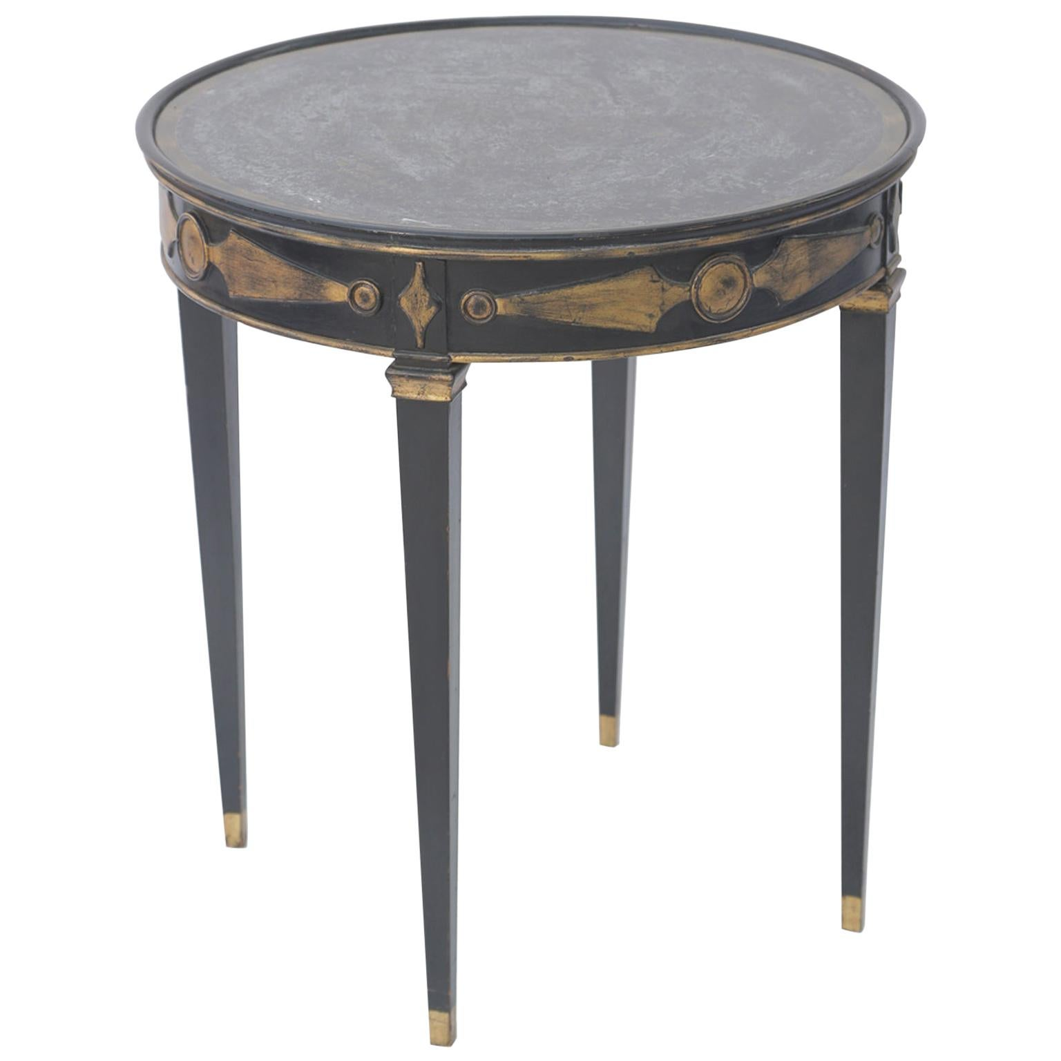 Directoire Style Occasional Table with Eglomise Top