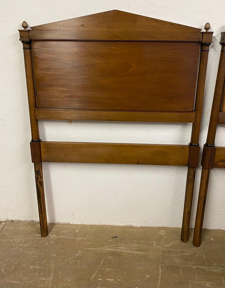 Wood Directoire Style Twin Headboards For Sale