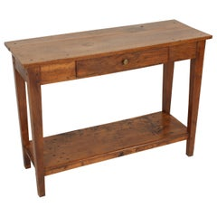 Directoire Style Walnut Console Table