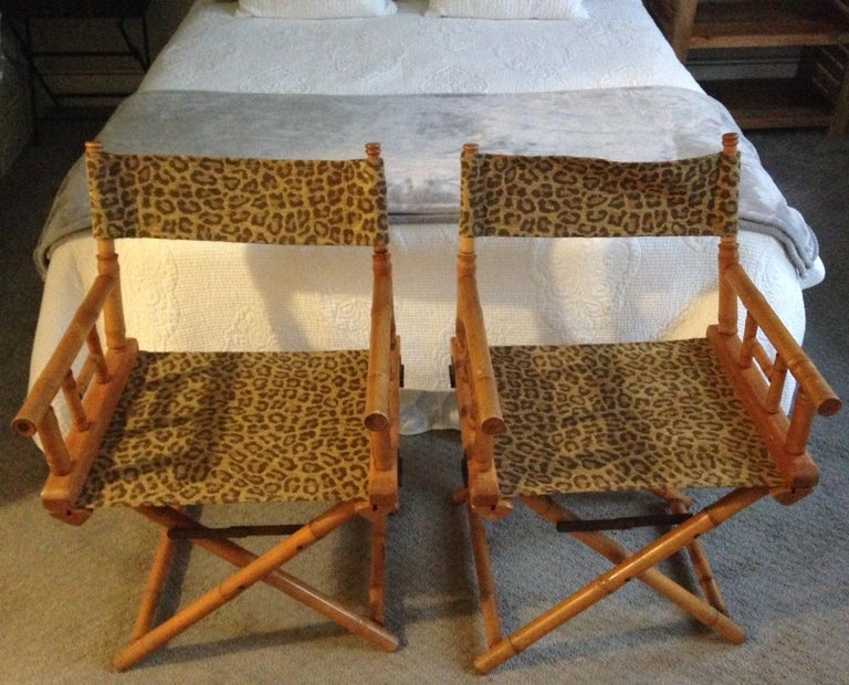 Directors Chairs From Telescope Chair Leopard Print