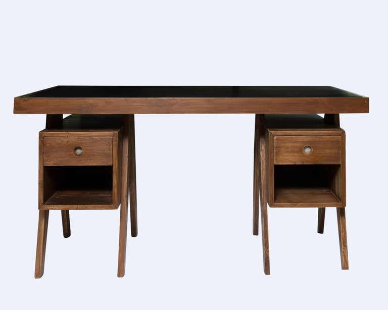 Director's Desk in teak • Excellent condition for age • Includes