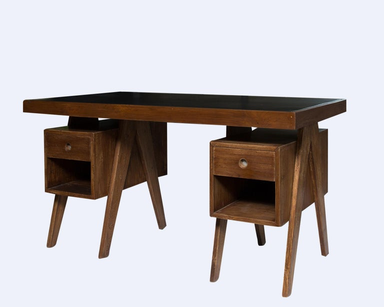 Indian Director's Desk by Pierre Jeanneret For Sale