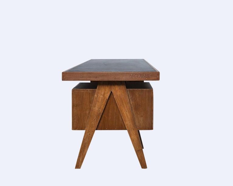 Woodwork Director's Desk by Pierre Jeanneret For Sale