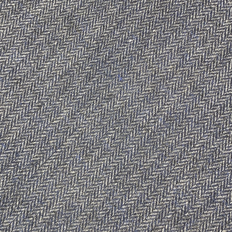 Gray DIRK BIKKEMBERGS Navy Cotton Herringbone Tie For Sale