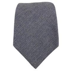 DIRK BIKKEMBERGS Navy Cotton Herringbone Tie