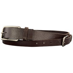 DIRK BIKKEMBERGS Size 32 Brown Leather Double Strap Layered Belt