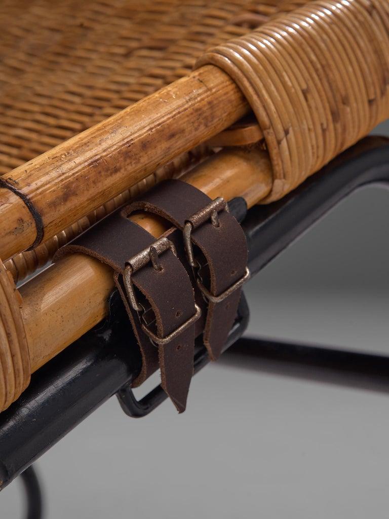 Dirk van Sliedregt Rattan Chaise Longue For Sale 1