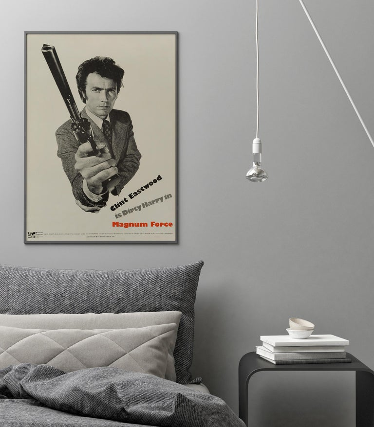 Dirty Harry 'Magnum Force' Original Vintage Movie Poster, American, 1973 In Good Condition For Sale In London, GB