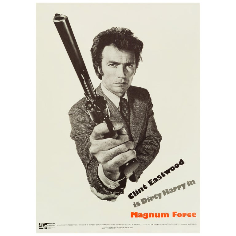 Dirty Harry 'Magnum Force' Original Vintage Movie Poster, American, 1973 For Sale
