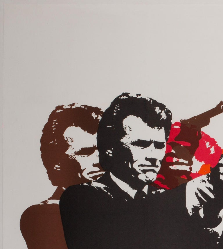 Dirty Harry Original UK Film Poster, 1971, Client Eastwood In Excellent Condition For Sale In Bath, Somerset