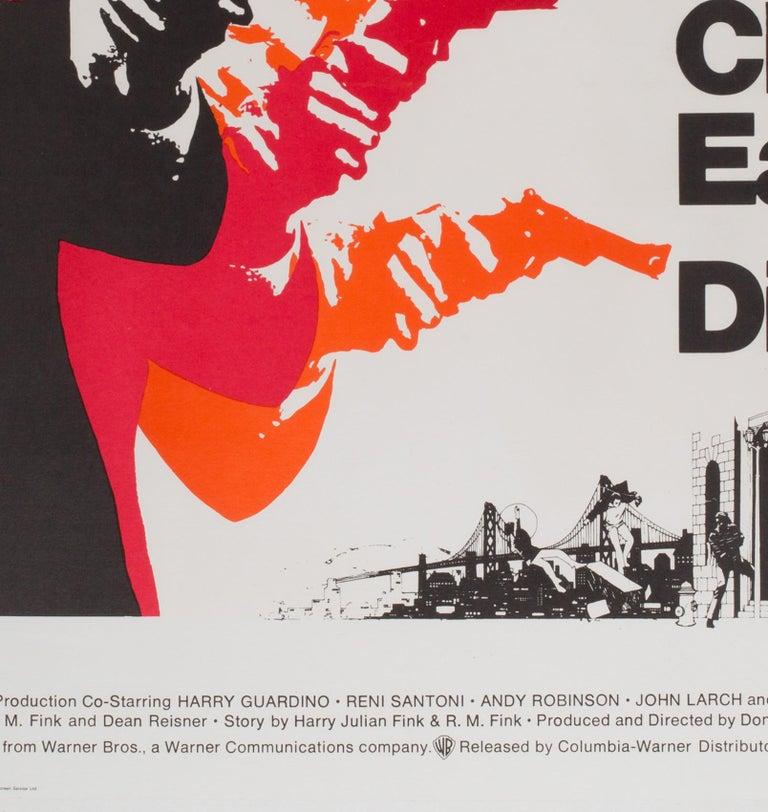 Paper Dirty Harry Original UK Film Poster, 1971, Client Eastwood For Sale