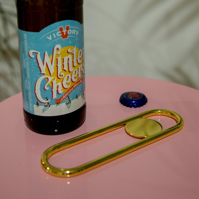 Disco Bottle Opener from Souda, Brass For Sale 2