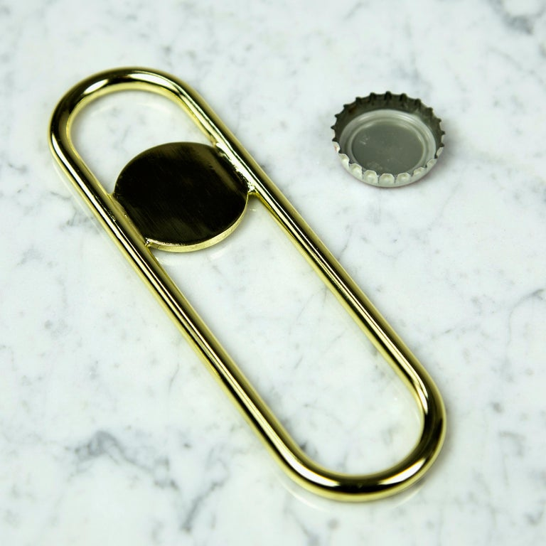Steel Disco Bottle Opener from Souda, Copper For Sale