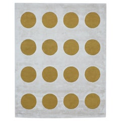 Disco Dots Rug in Gold and Pearl by Sasha Bikoff Interior Design