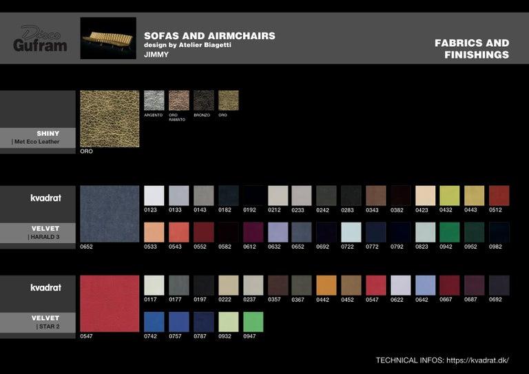 DISCO GUFRAM Jimmy Convex Sofa in Gold by Atelier Biagetti 7