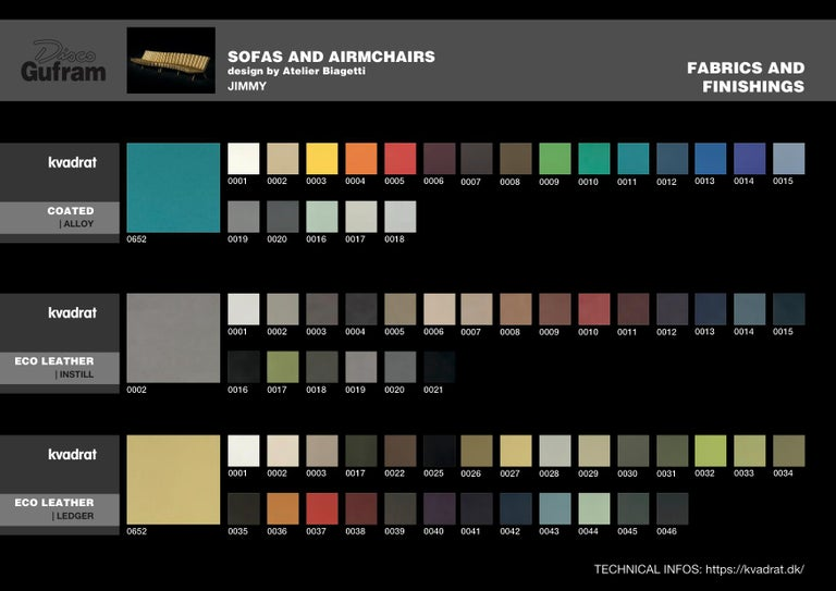 DISCO GUFRAM Jimmy Convex Sofa in Gold by Atelier Biagetti 8