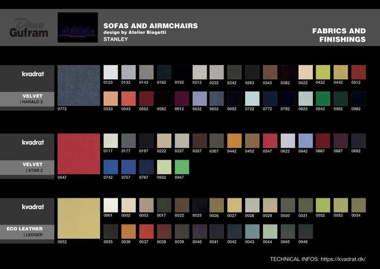 DISCO GUFRAM Stanley Sofa in Dark Grey by Atelier Biagetti 6