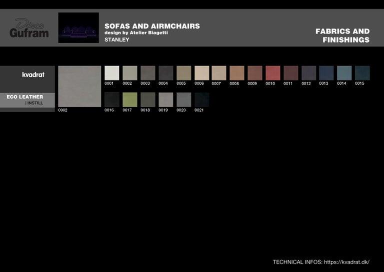 DISCO GUFRAM Stanley Sofa in Dark Grey by Atelier Biagetti 7