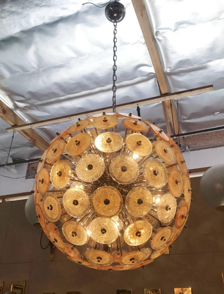 Mid-Century Modern Disco Sputnik Chandeliers by Fabio Ltd For Sale