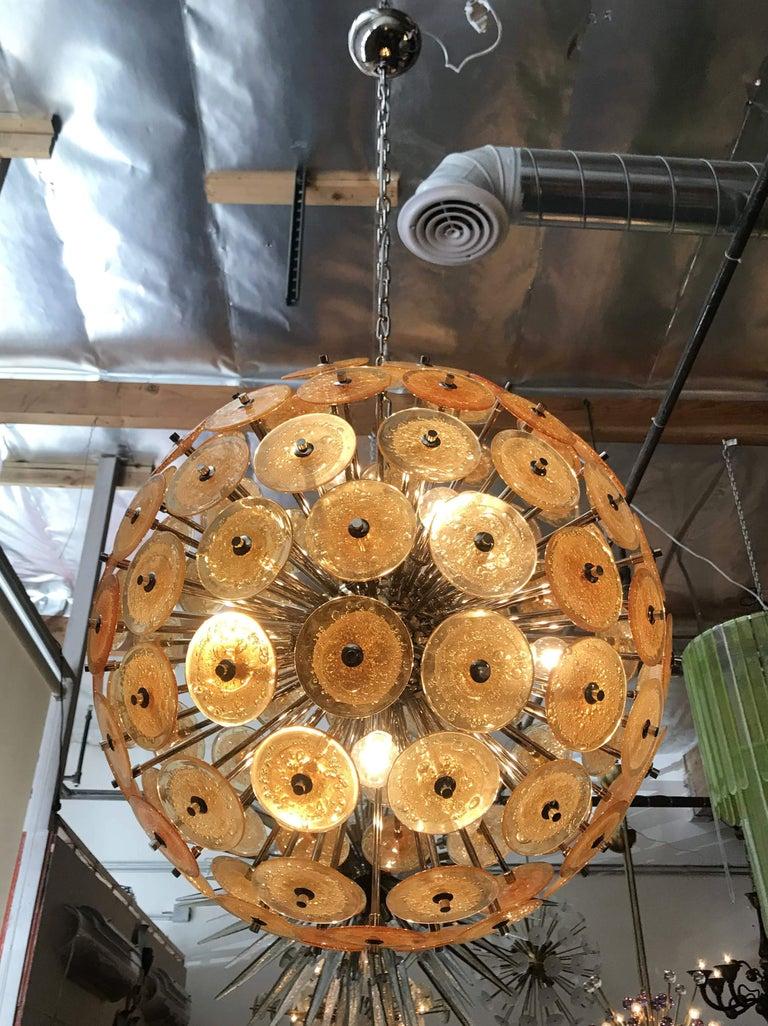 Disco Sputnik Chandeliers by Fabio Ltd In Good Condition For Sale In Palm Springs, CA