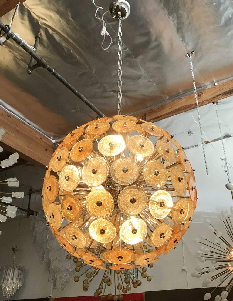 Contemporary Disco Sputnik Chandeliers by Fabio Ltd For Sale