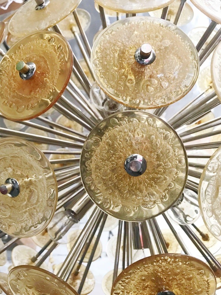 Murano Glass Disco Sputnik Chandeliers by Fabio Ltd For Sale