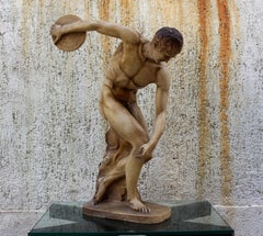 Discobolus sculpture circa 1950s